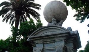 Columna meteorològica i rellotge de sol