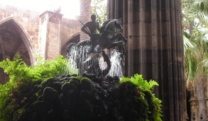Source of Cloister of the Cathedral. Sant Jordi